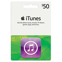 Apple iTunes Icons Card - $50