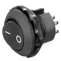 NTE Electronics Rocker Switch Round Hole
