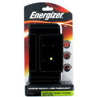 Energizer Leather Case with Built in LED Light - Horizontal Smartphones