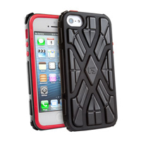 G-Form Xtreme Case for iPhone 5 - Black/Red