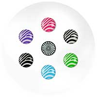 G-Form MiButton Zealous Zebra Home Button Sticker for Apple Devices