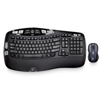 Logitech MK550 Wave Wireless Keyboard and Mouse Combo Refurbished