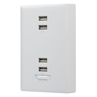 Audiovox Electronics USB Wall Plate Charger - White