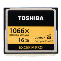 Toshiba Exceria Pro 16GB 1066x CompactFlash High Speed Memory Card THNCF016GSGI