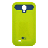 Bytech Case with Credit Card Slot for Samsung Galaxy S4 - Lime/Blue
