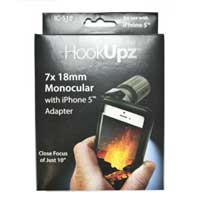 Carson Optical HookUpz™ IC-518 iPhone 4, 4S & 5 Adapter with 7x 18mm Monocular