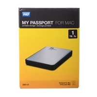 Western Digital My Passport 1TB SuperSpeed USB 3.0 Portable External Hard Drive for Mac