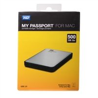WD My Passport 500GB SuperSpeed USB 3.0 Portable Hard Drive for Mac