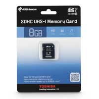 Toshiba 8GB Class 10 Secure Digital High Capacity Memory Card / Ultra High Speed-I (SDHC / UHS-I) Flash Media Card PFS008U-1DCK