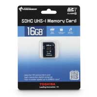Toshiba 16GB Class 10 Secure Digital High Capacity Memory Card / Ultra High Speed-I (SDHC / UHS-I) Flash Media Card PFS016U-1DCK