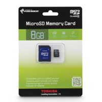 Toshiba 8GB Class 4 Micro Secure Digital High Capacity (micro SDHC) Flash Media Card PFM008U-1DAK
