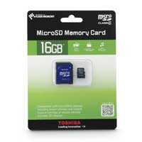 Toshiba 16GB Class 4 Micro Secure Digital High Capacity (microSDHC) Flash Media Card PFM016U-1DAK