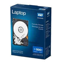 "WD Laptop Mainstream 500GB 5,400 RPM SATA 3.0Gb/s 2.5"" Internal Hard Drive WDBMYH5000ANC-NRSN"