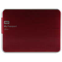 WD My Passport Ultra 500GB SuperSpeed USB 3.0 Portable External Hard Drive - Red