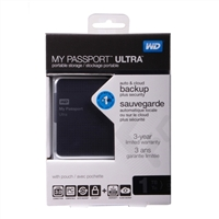 WD My Passport Ultra 1TB SuperSpeed USB 3.0 Portable External Hard Drive - Titanium
