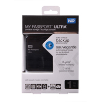 WD My Passport Ultra 1TB SuperSpeed USB 3.0 Portable  External Hard Drive - Black