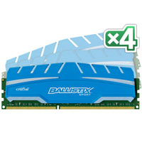 Crucial Ballistix Sport XT 16GB (PC3-12800) CL9 Desktop Memory Kit (Four 4GB Memory Modules)