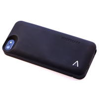 Boostcase Hybrid Snap Case & Attachable Extended Battery Sleeve 1500mAh for iPhone 5 - Black