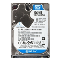 "WD Blue 750GB 5,400 RPM SATA III 6Gb/s 2.5"" Internal Hard Drive - Bare Drive"
