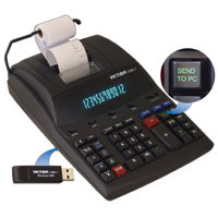 Victor Technology 1280-7 12-Digit Heavy Duty Commercial Printing Calculator with Wireless Data Relay