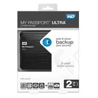 WD My Passport 2TB SuperSpeed USB 3.0 Portable External Hard Drive - Black