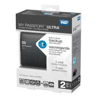 Western Digital My Passport 2TB SuperSpeed USB 3.0 Portable External Hard Drive - Titanium