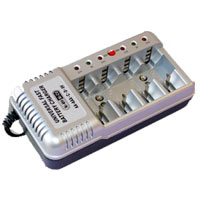 TenErgy 4-Position 8 Hour AA/AAA/C/D/9V NiMH Battery Charger