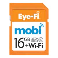 Eye Fi 16GB Mobi +WiFi SDHC Class 10 Flash Memory Card