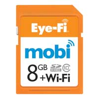 Eye Fi 8GB Mobi +WiFi SDHC Class 10 Flash Memory Card