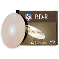 HP BD-R 6X 25GB Single Disc in Jewel Case