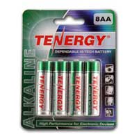TenErgy AA Alkaline Batteries 8 Pack