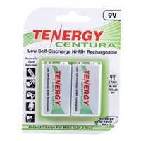 TenErgy 9 Volt Ni-MH 200mAh Battery 2 Pack