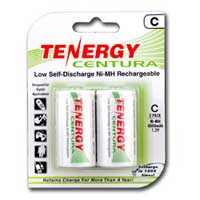 TenErgy Low Self Discharge Ni-MH C 4000mAh Rechargeable Batteries 2 Pack
