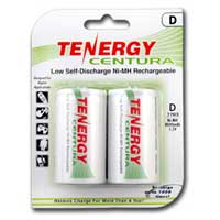 TenErgy Centura NiMH Rechargeable Low Self Discharge D 8000mAh Batteries 2 Pack