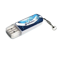 Verbatim Store 'n' Go 8GB USB 2.0 Mini Flash Drive - Blue Graffiti Edition