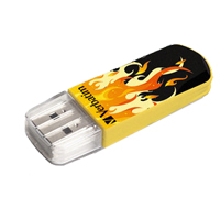 Verbatim Store 'n' Go 8GB USB 2.0 Mini Flash Drive - Fire Elements Edition
