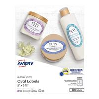 Avery Business Builders Print-to-the-Edge Oval Labels 80-Pack