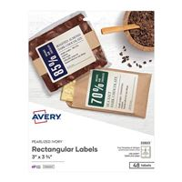 Avery Business Builders Print-to-the-Edge Rectangular Labels 48-Pack