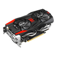 ASUS GTX760-DC2OC-2GD5 NVIDIA GeForce GTX 760 DirectCU II Overclocked 2048MB GDDR5 PCIe 3.0 x16 Video Card