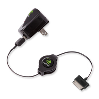 Emerge 2.1 Amp Wall Charger Retractable Samsung Galaxy Tablet USB Sync & Charge Cable