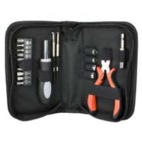 QVS Technician's Tool Kit with Wire Cutter - 19pc
