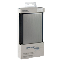 Toshiba Canvio Slim II 500GB SuperSpeed USB 3.0 Portable External Hard Drive for Mac - Silver