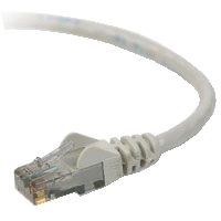 Belkin CAT 6 Gray Snagless 24AWG Round Network Cable - 100 Foot