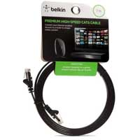 Belkin CAT6 Flat Black UTP Snagless Network Cable - 7 ft