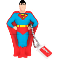 Emtec International SH100 Super Heroes 4GB USB 2.0 Flash Drive - Superman