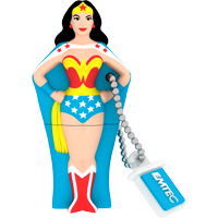 Emtec International SH103 Super Heroes 4GB USB 2.0 Flash Drive - Wonder Woman