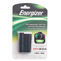 Energizer ENB-NEL15 Li-Ion Rechargeable Replacement Camera Battery for Nikon EN-EL15