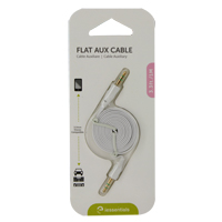 iEssentials 3.3ft. Flat Auxiliary Cable - White