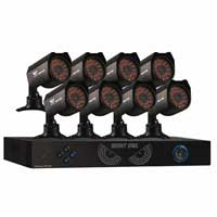 Night Owl PRO-88500 8 Channel Digital Video Recorder (DVR) and 8 x CM-624A 6mm 600 TV Lines Security Cameras with 50ft Night Vision