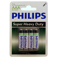 Philips Heavy Duty AAA Zinc-Chloride Battery 4-Pack